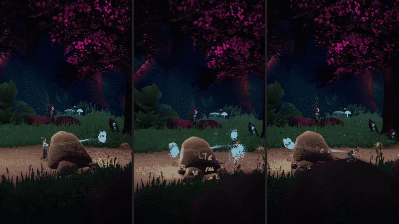 Ocoの青色のアビリティ | プレイヤーとOcoとの位置を入れ替え、プレイヤーが入れない場所や高いところに瞬間移動できる