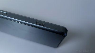 Xperia 1 IIIのカメラ専用ボタン/半押し→全押しができる/ザラザラしたデザイン