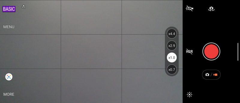 Photography Proのベーシックモードで録画しようとしたときのスクリーンショット