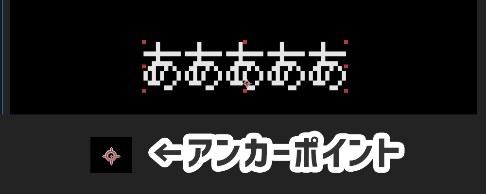 (FPSゲームのような)照準マークがアンカーポイントの目印